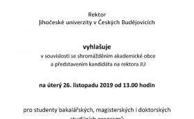 Rektorské volno 26. 11. 2019
